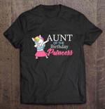 Aunt Of The Birthday Princess Unicorn Dabbing Birthday T Shirt