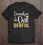 Grandpa Of Mr One Derful Birthday T Shirt