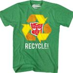 Autobots Recycle Transformers T-Shirt 80S CARTOON T Shirt