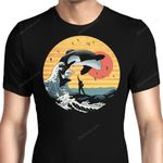 The Great Whale Off Kanagawa Graphic Arts T Shirt