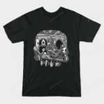 Skull's Inn T-Shirt Cartoon Disney Ghost Rider Jack Skellington Marvel Comics Mashup Masters of the Universe movie Skeletor skull The Nightmare Before