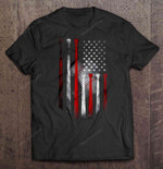 Baseball American Flag Version Sport T Shirt