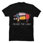 PIG BACON T SHIRT Funny Praise The Lard Tee gmc_created Uncategorized T Shirt