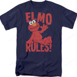Elmo Rules Sesame Street T-Shirt 80S TV T Shirt