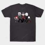 Horror BFFs T-Shirt A Nightmare on Elm Street Child's Play Chucky Freddy Krueger Friday the 13th Hellraiser Horror Jason Voorhees Mashup movie Parody