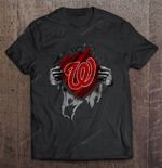 Washington Nationals Heartbeats - Major League Baseball MLB MLB T Shirt