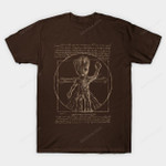 Vitruvian tree T-Shirt Groot Guardians of the Galaxy Marvel Comics Parody Superhero Vitruvian Man T Shirt