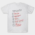 Death List Five T-Shirt Kill Bill movie Quentin Tarantino T Shirt