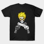 humanoid Skull T-Shirt Anime gun Manga skull Trigun T Shirt