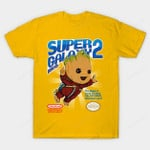 Super Galaxy Bros T-Shirt Groot Guardians of the Galaxy Marvel Comics Parody Super Mario Bros 3 Superhero T Shirt