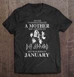 Never Underestimate A Mother Who Listens To Def Leppard And Was Born In January Rock Band T Shirt