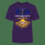 LSU Tigers - Living Roots North Dakota LSU Tigers T Shirt