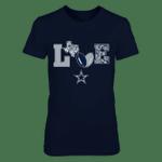 Dallas Cowboys - Love my team - Floral - Football NFL Dallas Cowboys 2 T Shirt