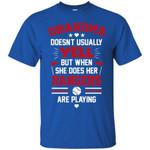 Grandma Doesn't Usually Yell Texas Rangers T Shirts bestfunnystore.com T Shirt