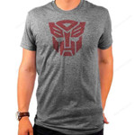 Transformers Autobot Logo Grey T-Shirt 80S CARTOON T Shirt