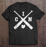 CIN Baseball Bat Sport T Shirt