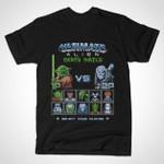 Ultimate Alien Death Match T-Shirt 8-Bit Alien Aliens Dalek Doctor Who Greedo Mars Attacks! Marvel Comics Mashup movie Parody Predator Prometheus