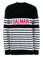 Balmain Striped Logo Jumper FW19