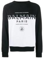 Balmain Dual-Tone Logo Sweatshirt FW19