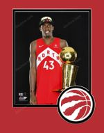 Raptors 2019 NBA Champs Pascal Siakam Trophy Matted 8x10 Photo