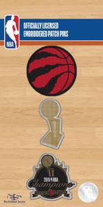 Raptors 2019 NBA Champs Patch & Pin Set