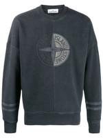 Stone Island Logo Panelled Sweatshirt FW19