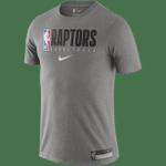 Raptors Nike Men's Authentic Practice Tee - Charcoal