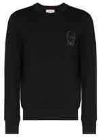 Alexander Mcqueen Sequin Skull Logo Sweatshirt FW19