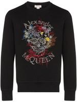 Alexander McQueen Floral Logo Embroidered Sweatshirt SS20
