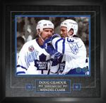 Maple Leafs Clark/Gilmour Duo Signed 16x20 Photo Framed