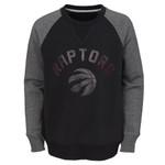 Raptors NBA Youth Titanium Raglan Crew Sweater