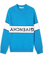 Givenchy Reverse Logo Cotton Crew Knit Jumper FW19