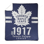 Maple Leafs Logo Print Throw Blanket