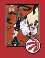 Raptors 2019 Playoffs Kawhi Leonard Dunk Matted 8x10 Photo