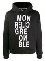 Moncler Grenoble Black Hooded Sweatshirt FW19
