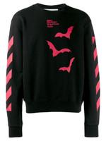 Off-White Bats-print Diagonal Stripe Sweatshirt FW19