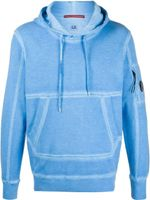 C.P Company Plain Long-Sleeved Hoodie Light Blue SS20