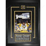 Crosby Penguins Signed 2017 Stanley Cup Frame