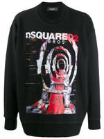 Dsquared2 Graphic Print Oversized Sweatshirt