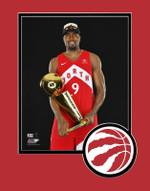 Raptors 2019 NBA Champs Serge Ibaka Trophy Matted 8x10 Photo