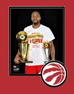 Raptors 2019 NBA Champs Kawhi Leonard Trophy Matted 8x10 Photo