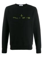 Stone Island Black Contrast Logo Sweatshirt FW19