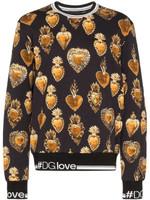 Dolce & Gabbana Sacred Heart Print Sweatshirt FW19