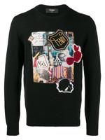 Fendi Karl Kollage Logo Sweater FW19