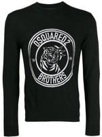Dsquared2 Intarsia Logo Knitted Sweater SS20