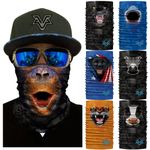 Lovely Dog Half Face Animal Mask Neck Gaiter Magic Bandana