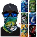 Fishing Half Face Animal Mask Neck Gaiter Magic Bandana