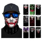 Joker Half Face Mask Neck Gaiter Magic Bandana