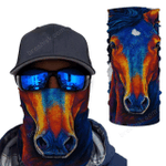 Horse Girl 3D Magic Bandana Neck Gaiter