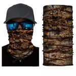 Face Mask and Neck Warmer with Dust and Sun UV Protection (Camouflage S28)